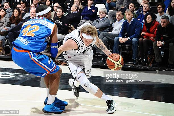 Matt Walsh of Granarolo competes with Folarin Campbell of Enel during the LegaBasket Serie A1 match between Granarolo Bologna and Enel Brindisi at...