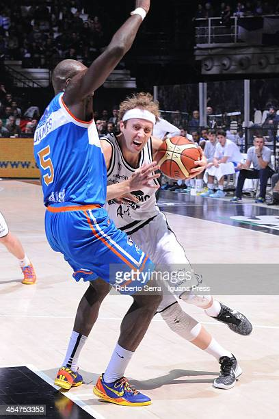 Matt Walsh of Granarolo competes with James Delroy of Enel during the LegaBasket Serie A1 match between Granarolo Bologna and Enel Brindisi at Unipol...