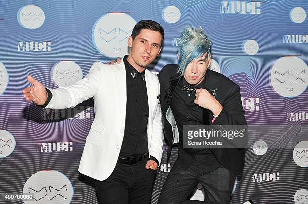 Matt Webb and Josh Ramsey of Marianas Trench pose in the press room at the 2014 MuchMusic Video Awards at MuchMusic HQ on June 15 2014 in Toronto...