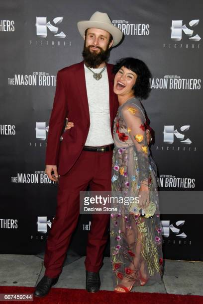 Matt Webb and Julia Fae attend the premiere of 'The Mason Brothers' at the Egyptian Theatre on April 11 2017 in Hollywood California