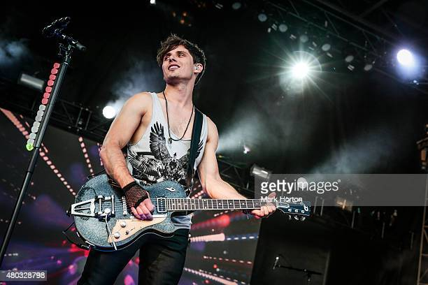 Matt Webb of Marianas Trench performs on Day 3 of the RBC Royal Bank Bluesfest on July 10 2015 in Ottawa Canada