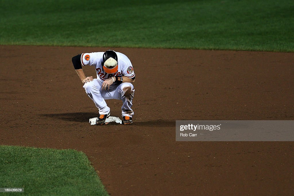<a gi-track='captionPersonalityLinkClicked' href=/galleries/search?phrase=Matt+Wieters&family=editorial&specificpeople=4498276 ng-click='$event.stopPropagation()'>Matt Wieters</a> #32 of the Baltimore Orioles looks down after the end of the eighth inning against the New York Yankees at Oriole Park at Camden Yards on September 12, 2013 in Baltimore, Maryland. The Yankees won 6-5.