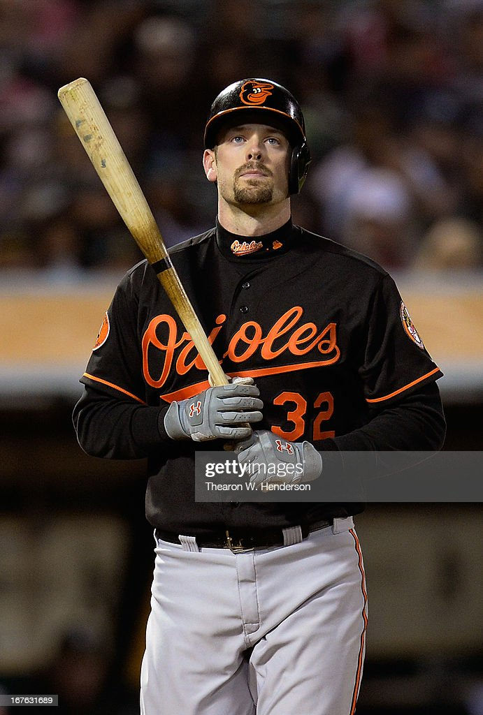 <a gi-track='captionPersonalityLinkClicked' href=/galleries/search?phrase=Matt+Wieters&family=editorial&specificpeople=4498276 ng-click='$event.stopPropagation()'>Matt Wieters</a> #32 of the Baltimore Orioles walks back to the dugout after striking out against the Oakland Athletics in the six inning at O.co Coliseum on April 26, 2013 in Oakland, California.