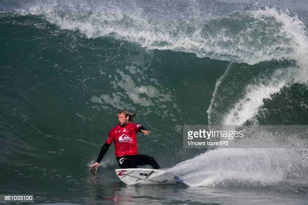 Matt Wilkinson from Australia performs during the Quicksilver Pro France surf competition on October 13 2017 in Hossegor France The French stage of...