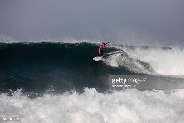Matt Wilkinson from Australia performs during the Quicksilver Pro France surf competition on October 12 2017 in Hossegor France he French stage of...