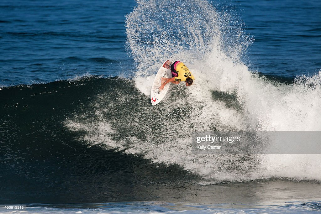 Matt Wilkinson of Australia placed equal 9th in the REEF Hawaiian Pro at Ali'i Beach Park on November 24, 2012 in Haleiwa, Hawaii.
