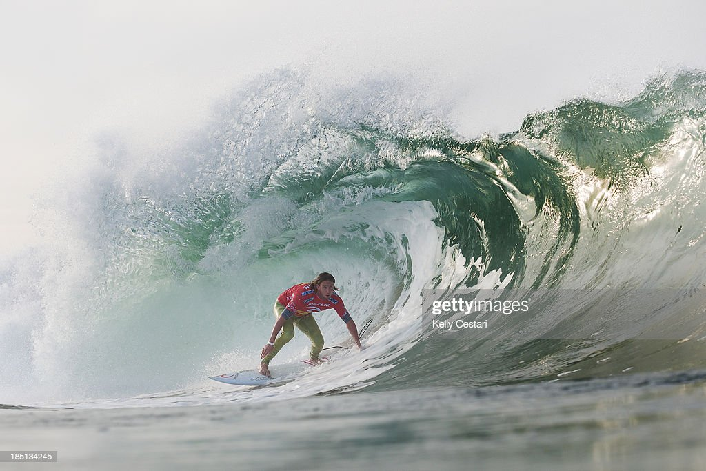 Matt Wilkinson of Australia placed equal 9th in the RipCurl Pro Portugal on October 17, 2013 in Peniche, Portugal.
