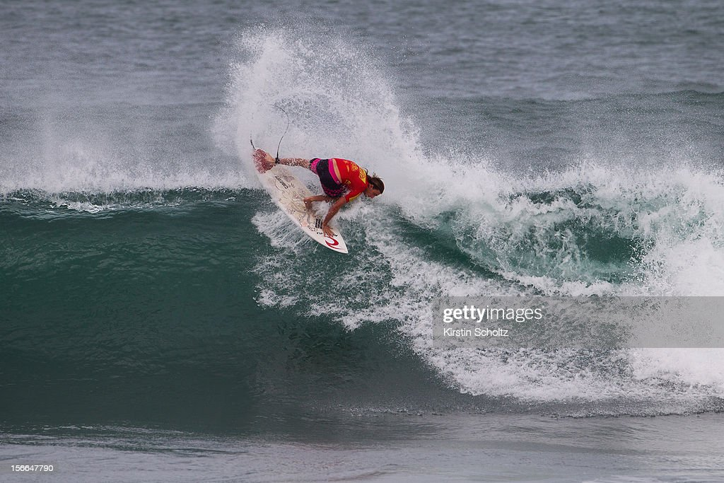 Matt Wilkinson of Australia surfs during Round 64 of the Reef Hawaiian Pro on November 17, 2012 in Haleiwa, Hawaii.