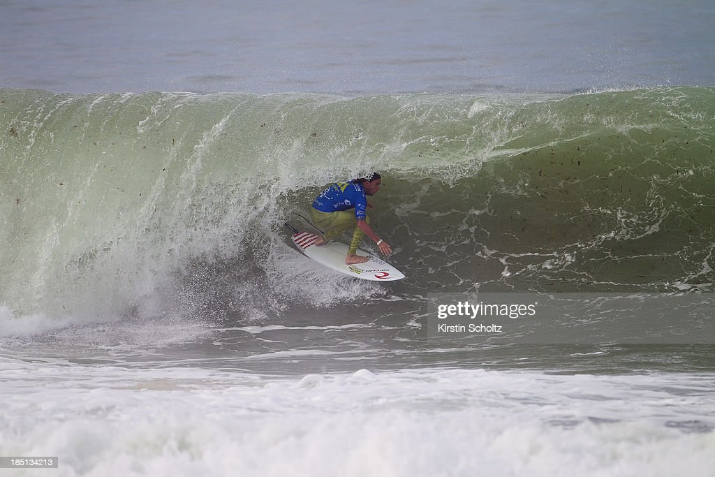 Matt Wilkinson of Australia surfs during round five on October 17, 2013 in Peniche, Portugal.