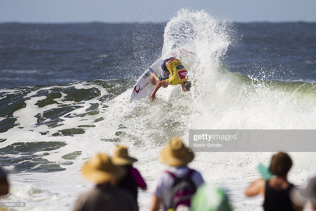 Matt Wilkinson of Australia surfs during round four of the Quiksilver Pro on March 11, 2013 in Gold Coast, Australia.