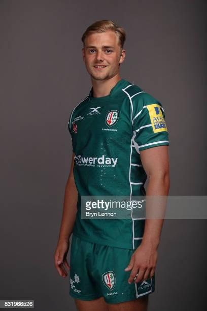 Matt Williams of London Irish poses for a portrait during the London Irish squad photo call for the 20172018 Aviva Premiership Rugby season on August...