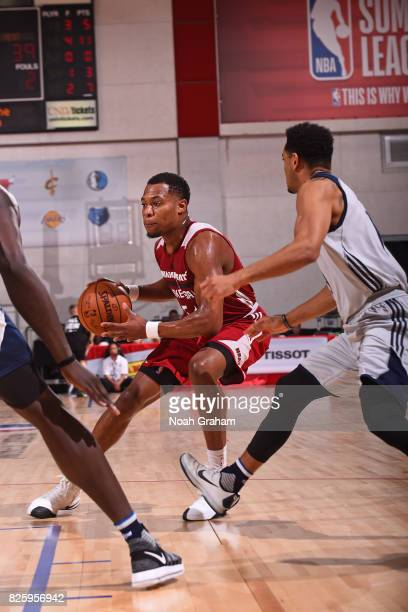 Matt Williams of the Miami Heat drives to the basket during the 2017 Las Vegas Summer League game against the Dallas Mavericks on July 11 2017 at Cox...