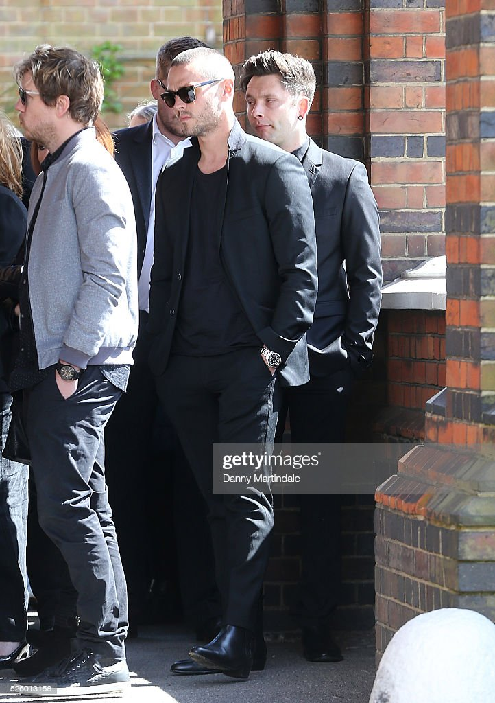 Matt Willis attends the funeral of entertainer, producer and reality television star David Gest at Golders Green Crematorium on April 29, 2016 in London, England.
