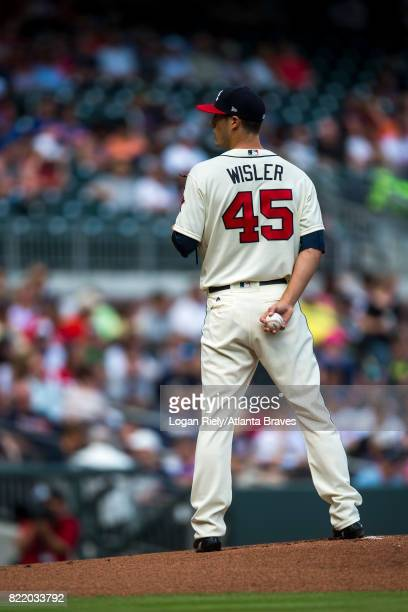 Matt Wisler of the Atlanta Braves pitches against the New York Mets at SunTrust Park on June 10 2017 in Atlanta Georgia The Mets won 61