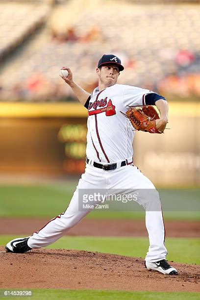 Matt Wisler of the Atlanta Braves pitches during the game against the Atlanta Braves at Turner Field on May 26 2016 in Atlanta Georgia