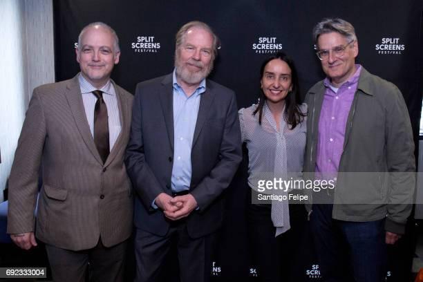 Matt Zoller Seitz Michael McKean Raphaela Neihausen and Peter Gould attend the 2017 IFC Split Screens Festival at IFC Center on June 4 2017 in New...
