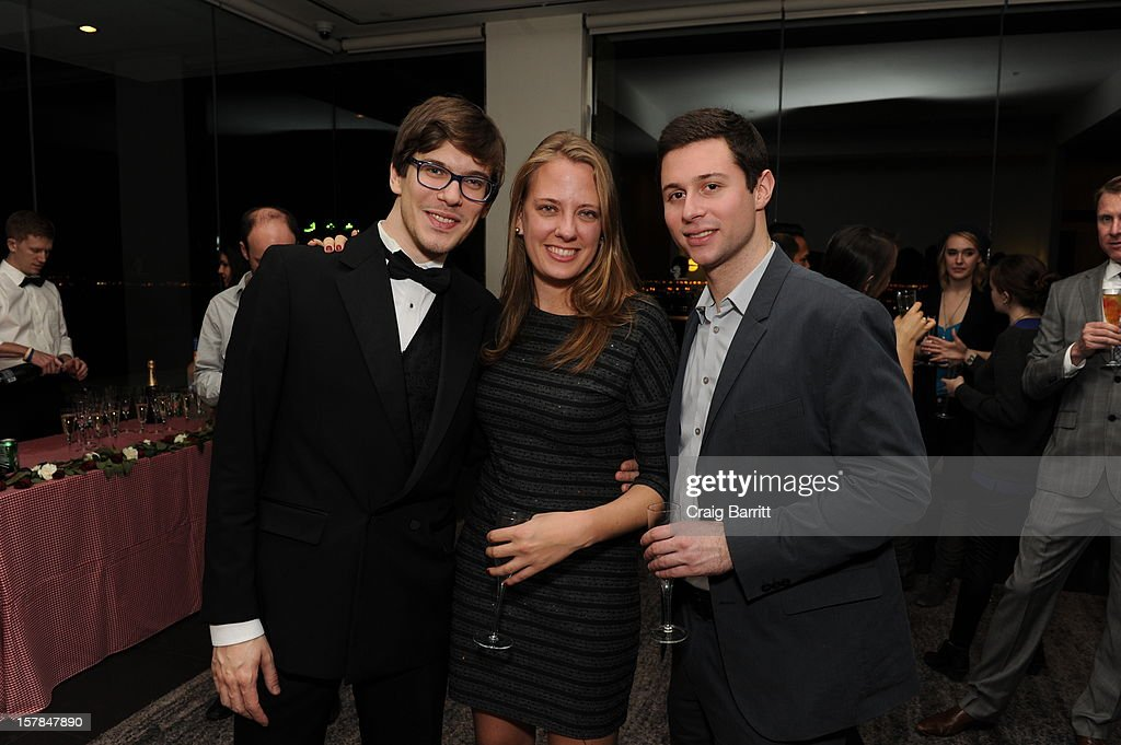 Matteo Brunetta, Amanda Bowers and Ethan Lazar attend the Worldview Entertainment 2012 Holiday Party at William Beaver House on December 6, 2012 in New York City.