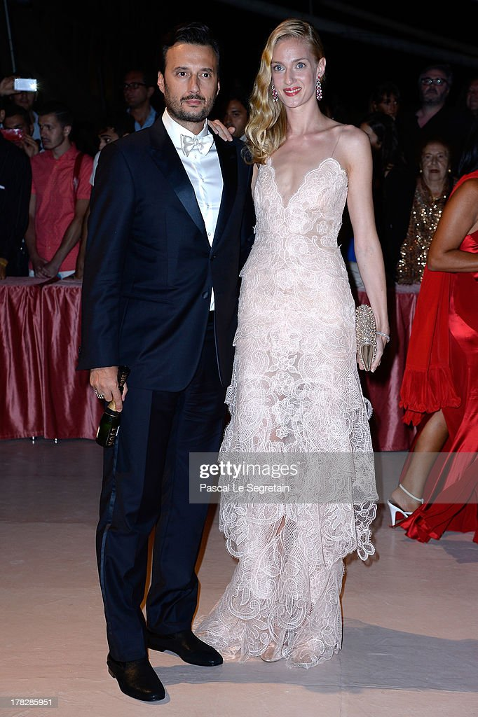 Matteo Ceccarini and actress Eva Riccobono attends the Opening Dinner Arrivals during the 70th Venice International Film Festival at the Hotel Excelsior on August 28, 2013 in Venice, Italy.