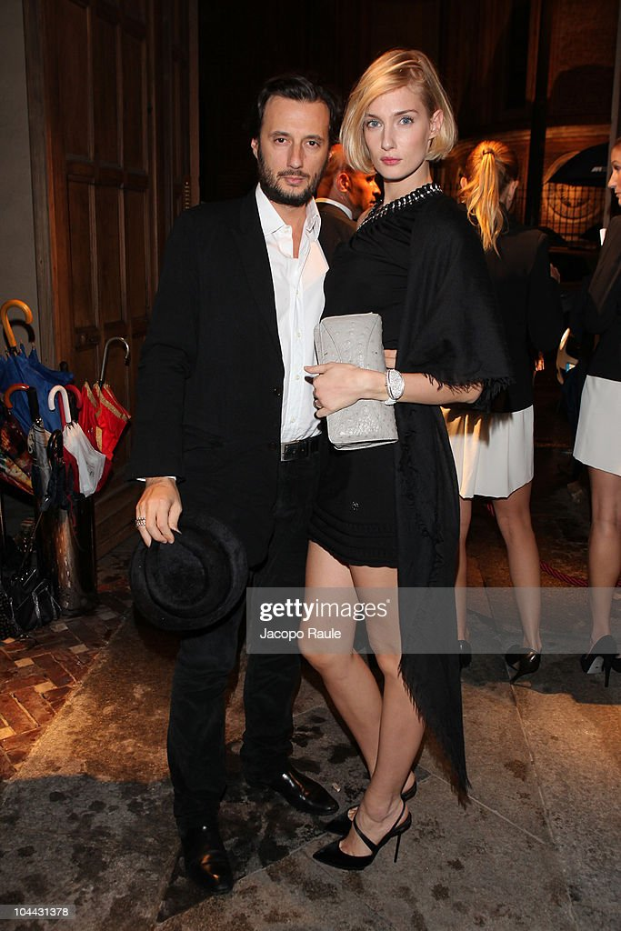 Matteo Ceccarini and <a gi-track='captionPersonalityLinkClicked' href=/galleries/search?phrase=Eva+Riccobono&family=editorial&specificpeople=885062 ng-click='$event.stopPropagation()'>Eva Riccobono</a> attend Vogue Gioiello Milan Fashion Week Womenswear S/S 2011 on September 24, 2010 in Milan, Italy.