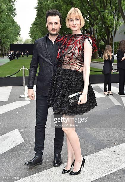 Matteo Ceccarini and Eva Riccobono attends the Giorgio Armani 40th Anniversary Silos Opening And Cocktail Reception on April 30 2015 in Milan Italy