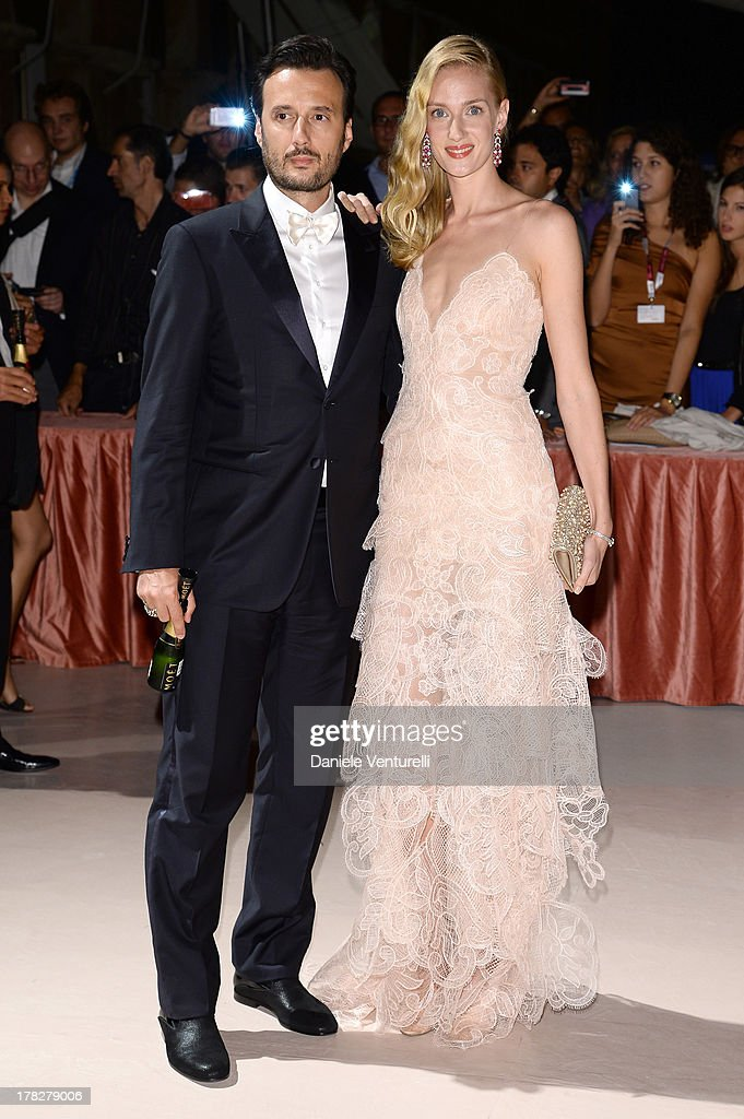 Matteo Ceccarini and <a gi-track='captionPersonalityLinkClicked' href=/galleries/search?phrase=Eva+Riccobono&family=editorial&specificpeople=885062 ng-click='$event.stopPropagation()'>Eva Riccobono</a> attends the Opening Ceremony during The 70th Venice International Film Festival on August 28, 2013 in Venice, Italy.