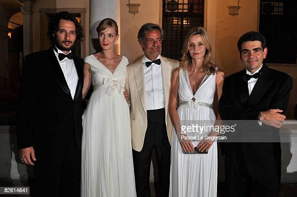 Matteo Ceccarini model Eva Riccobono Paolo Glisenti actress Eliana Miglio and JaegerLeCoultre CEO Jerome Lambert arrive at the Jaeger Gala Dinner...