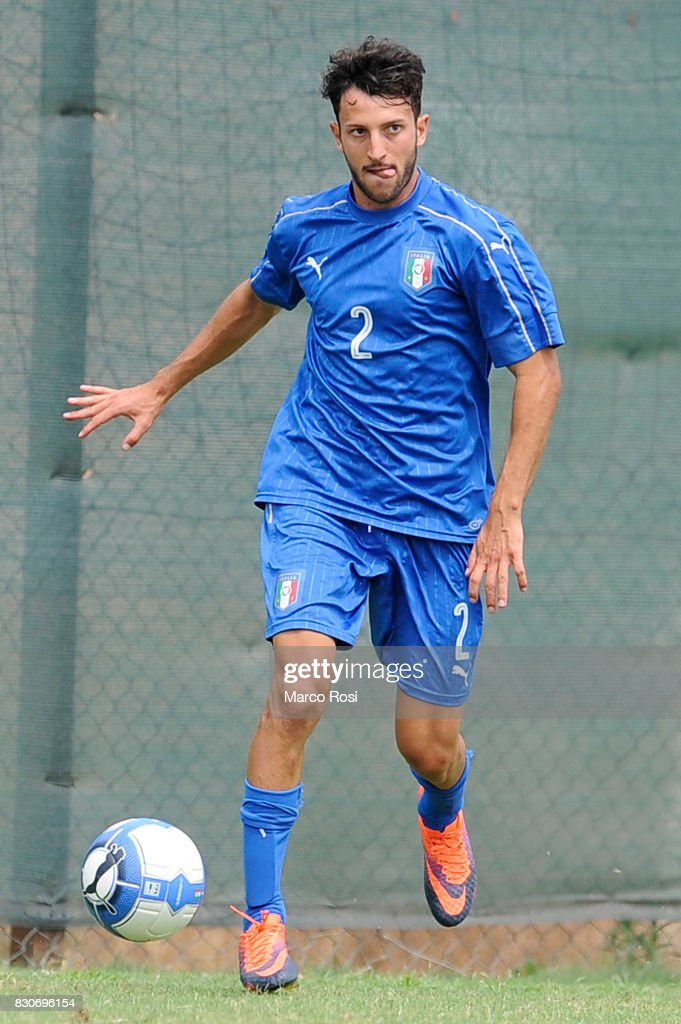 Matteo Cio of Italy during the frienldy match between Italy University and ASD Audace on August 12, 2017 in Rome, Italy.