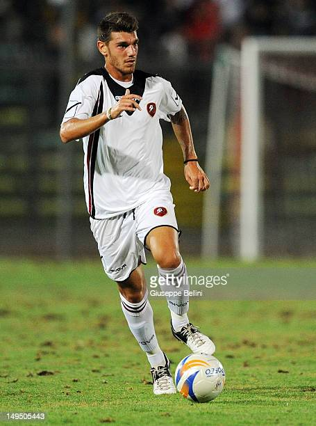 Matteo D'Alessandro of Reggina in action durng the match between Reggina Calcio and US Ancona a pre season friendly match between Reggina Calcio and...
