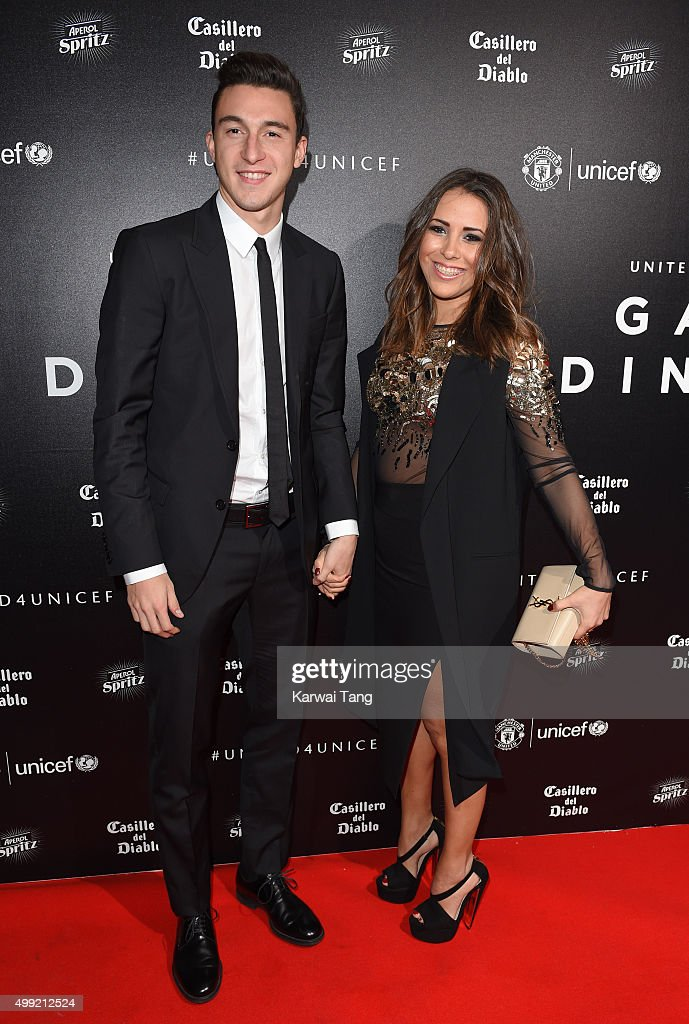 <a gi-track='captionPersonalityLinkClicked' href=/galleries/search?phrase=Matteo+Darmian&family=editorial&specificpeople=7096006 ng-click='$event.stopPropagation()'>Matteo Darmian</a> and Francesca Cormanni attend the United for UNICEF Gala Dinner at Old Trafford on November 29, 2015 in Manchester, England.