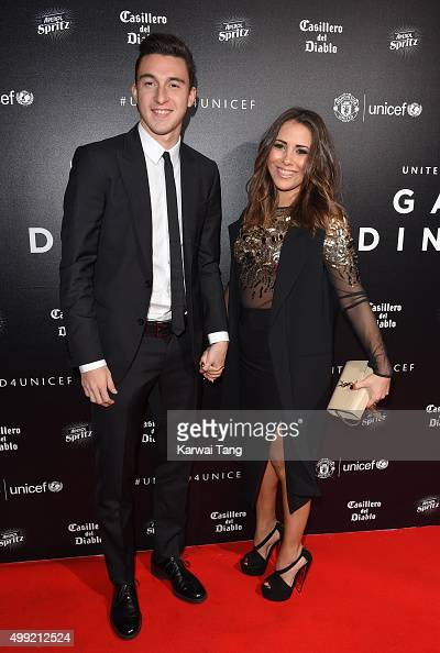 Matteo Darmian and Francesca Cormanni attend the United for UNICEF Gala Dinner at Old Trafford on November 29 2015 in Manchester England
