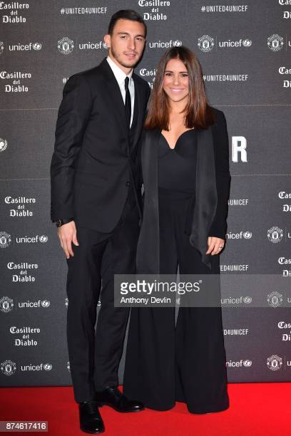 Matteo Darmian and Francessca Darmian attend the United for Unicef Gala Dinner at Old Trafford on November 15 2017 in Manchester England