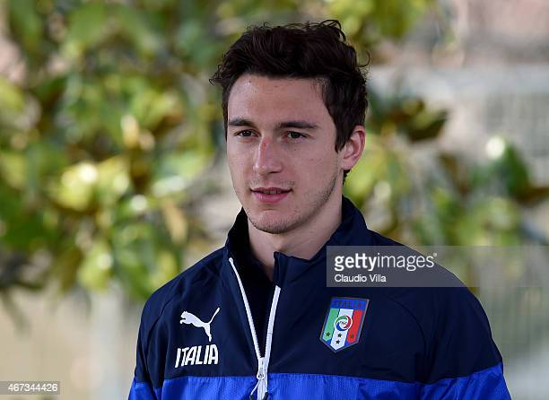 Matteo Darmian during Italy Training Session at Coverciano on March 23 2015 in Florence Italy