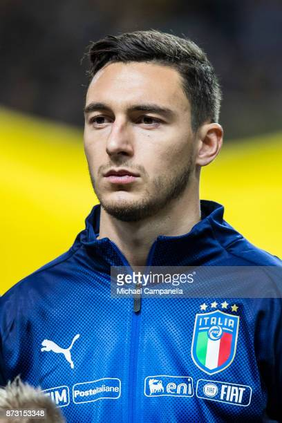 Matteo Darmian of Italy during the FIFA 2018 World Cup Qualifier PlayOff First Leg between Sweden and Italy at Friends arena on November 10 2017 in...