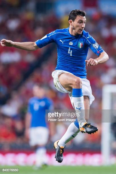 Matteo Darmian of Italy in action during the 2018 FIFA World Cup Russia Final Qualification Round 1 Group G match between Spain and Italy on 02...