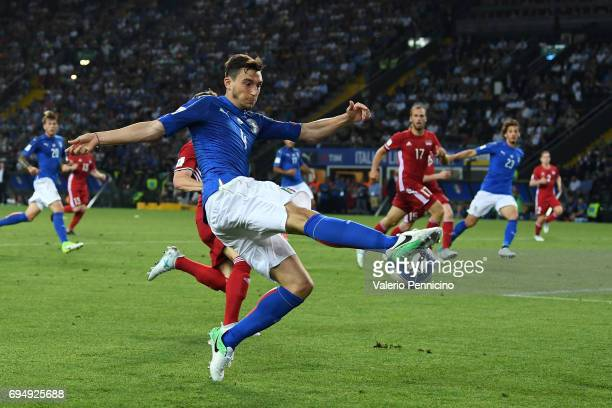 Matteo Darmian of Italy in action during the FIFA 2018 World Cup Qualifier between Italy and Liechtenstein at Stadio Friuli on June 11 2017 in Udine...