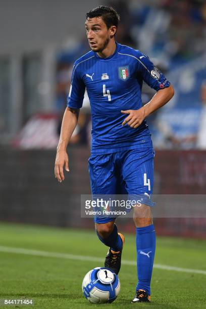Matteo Darmian of Italy in action during the FIFA 2018 World Cup Qualifier between Italy and Israel at Mapei Stadium Citta' del Tricolore on...