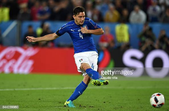 Matteo Darmian of Italy takes the penalty saved by Manuel Neuer of Germany during the UEFA EURO 2016 quarter final match between Germany and Italy at...