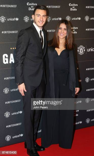 Matteo Darmian of Manchester United and his partner attend the annual United for UNICEF gala dinner at Old Trafford on November 15 2017 in Manchester...