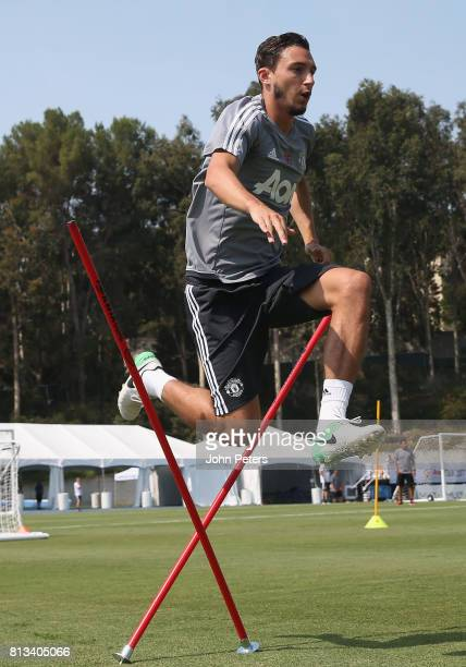 Matteo Darmian of Manchester United in action during a first team training session as part of their preseason tour of the USA at UCLA on July 12 2017...