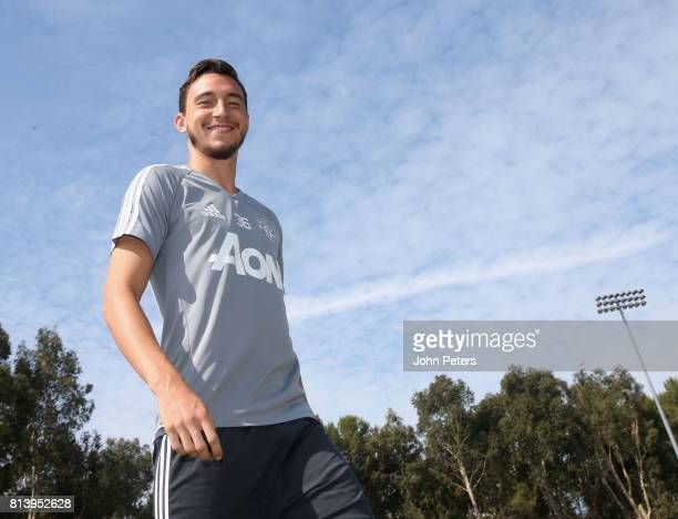 Matteo Darmian of Manchester United in action during a first team training session as part of their preseason tour of the USA at UCLA on July 13 2017...