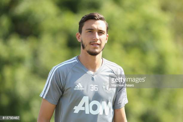 Matteo Darmian of Manchester United in action during a first team training session as part of their preseason tour of the USA at UCLA on July 16 2017...