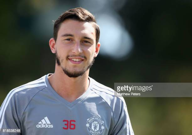 Matteo Darmian of Manchester United in action during a first team training session as part of their preseason tour of the USA at UCLA on July 18 2017...