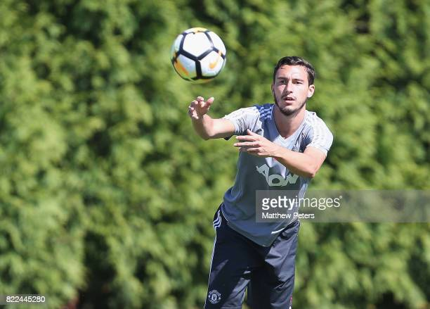 Matteo Darmian of Manchester United in action during a first team training session as part of their preseason tour of the USA on July 25 2017 in...