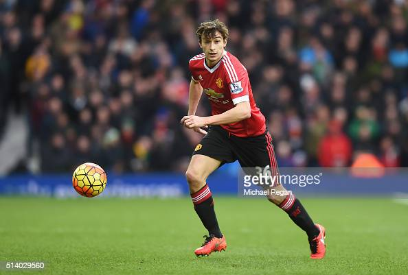 Matteo Darmian of Manchester United in action during the Barclays Premier League match between West Bromwich Albion and Manchester United at The...