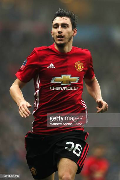 Matteo Darmian of Manchester United in action during the Emirates FA Cup Fifth Round match between Blackburn Rovers and Manchester United at Ewood...