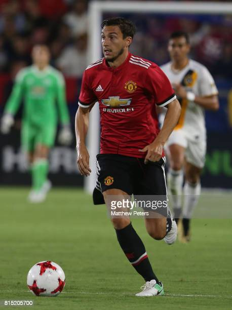 Matteo Darmian of Manchester United in action during the preseason friendly match between LA Galaxy and Manchester United at StubHub Center on July...