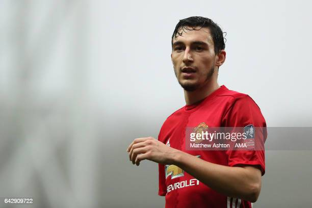 Matteo Darmian of Manchester United looks on during the Emirates FA Cup Fifth Round match between Blackburn Rovers and Manchester United at Ewood...