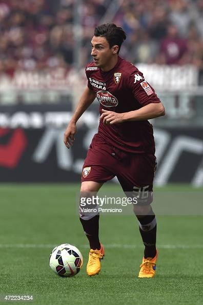 Matteo Darmian of Torino FC in action during the Serie A match between Torino FC and Juventus FC at Stadio Olimpico di Torino on April 26 2015 in...
