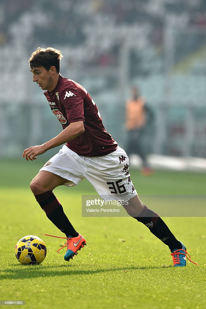 Matteo Darmian of Torino FC in action during the Serie A match between Torino FC v US Sassuolo Calcio at Stadio Olimpico di Torino on November 23, 2014 in Turin, Italy.