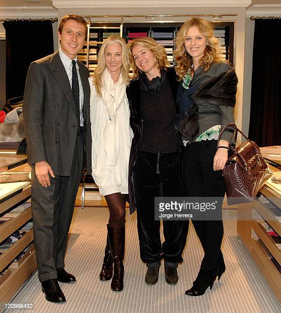 Matteo Di Montezemolo owner of Ballantyne Joely Richardson Emma Thompson and Eva Herzigova at the Ballantyne Charity Party in benefit of the Helen...